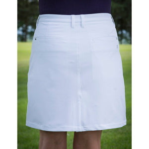 803124 Catmandoo Mirim Ladies White Stretch Skort Model Image Rear
