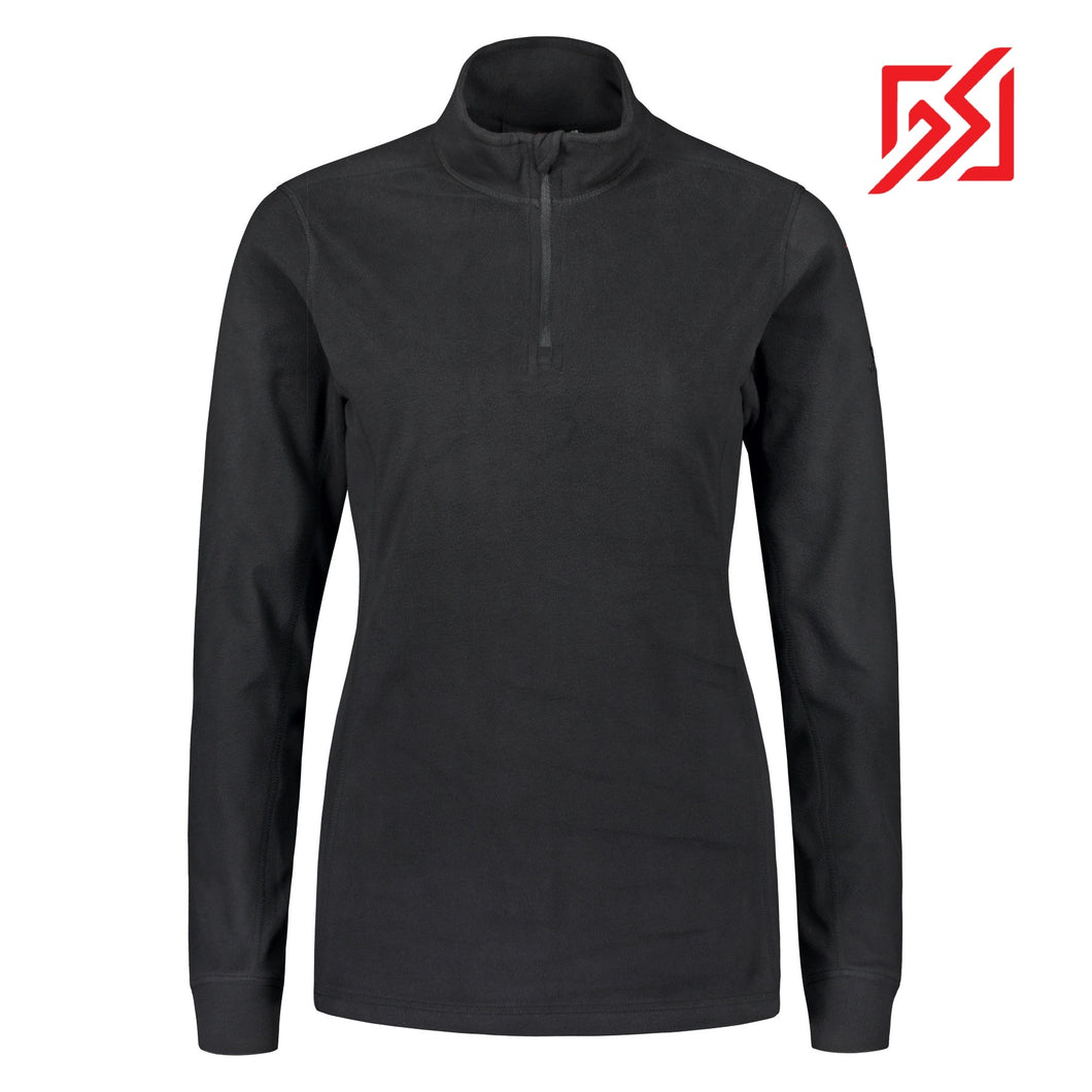 804116 CMD Lucania Womens Black Fleece Pullover Product Image Front