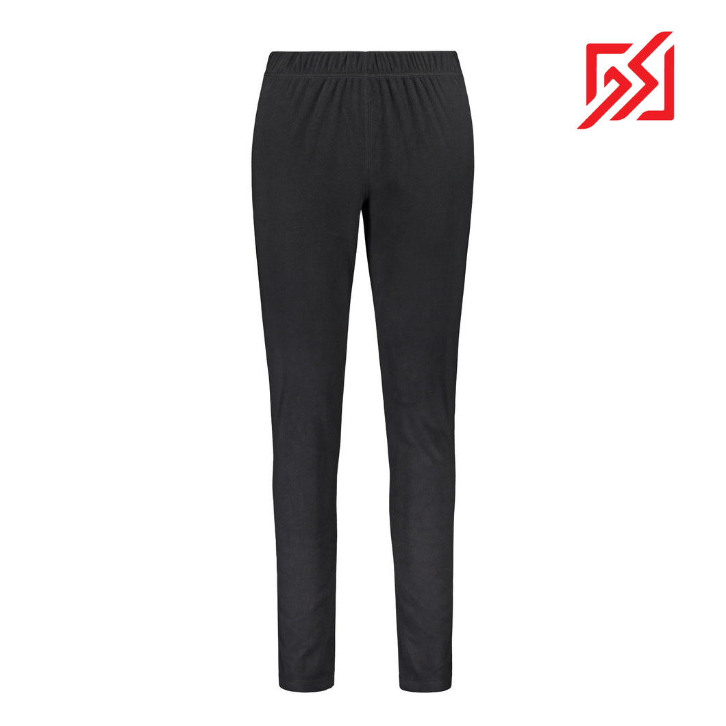 804116 CMD Womens Black Fleece Thermal Leggings Product Image Front