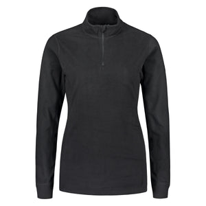 804116 Catmandoo Lucania Womens Black Microfleece Mid Layer Top Product Image Front