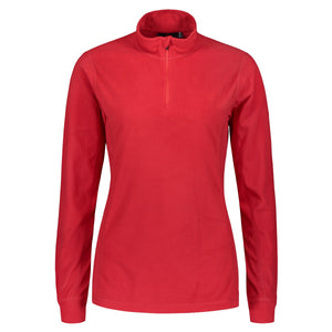 804116 Catmandoo Lucania Womens Red Tango Microfleece Mid Layer Top Product Image Front