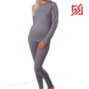 832818 CMD Womens Promarl Grey Base Layer Set Product Image Front