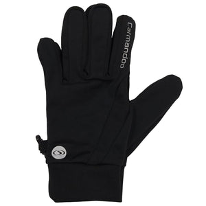 832908 CMD Unisex Mens Womens Black Stretch Running Glove Product Image 01