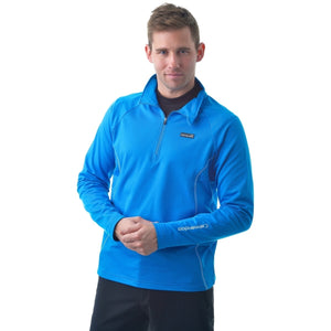 841500 Catmandoo Mens Aiken Blue Half Zip Stretch Mid Layer Top Model Image