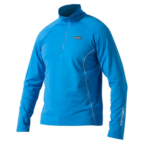 841500 Catmandoo Mens Aiken Blue Half Zip Stretch Mid Layer Top Product Image Front
