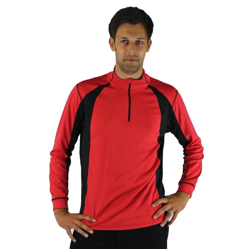 852800 Catmandoo Men's Matthew Performance Thermal Mid Layer Top Red Shot Product Image Front