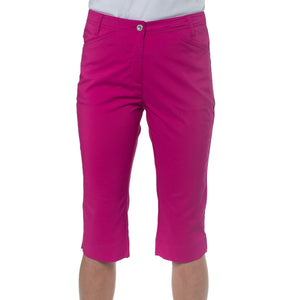 861559 Catmandoo Womens Betti Radiant Purple Cropped Capri Trousers Product Image Front