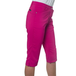 861559 Catmandoo Womens Betti Radiant Purple Cropped Capri Trousers Product Image Side