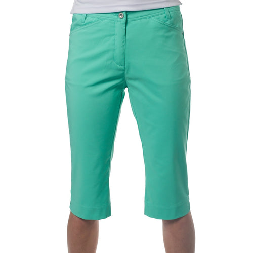 861559 Catmandoo Womens Betti Rio Green Cropped Capri Trousers Product Image Front