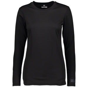 862407 CMD Womens Helli Black Base Layer Top Product Image Front