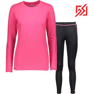 862407 CMD Womens Helli Pink Base Layer Set Product Image Back