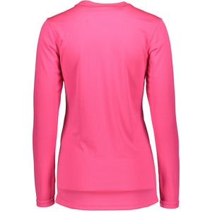 862407 CMD Womens Helli Pink Base Layer Top Product Image Back