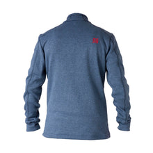 862450 CMD Mens Fell Navy Melange Brushed Fleece Full-Zip Jacket Product Image Back