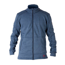 862450 CMD Mens Fell Navy Melange Brushed Fleece Full-Zip Jacket Product Image Front