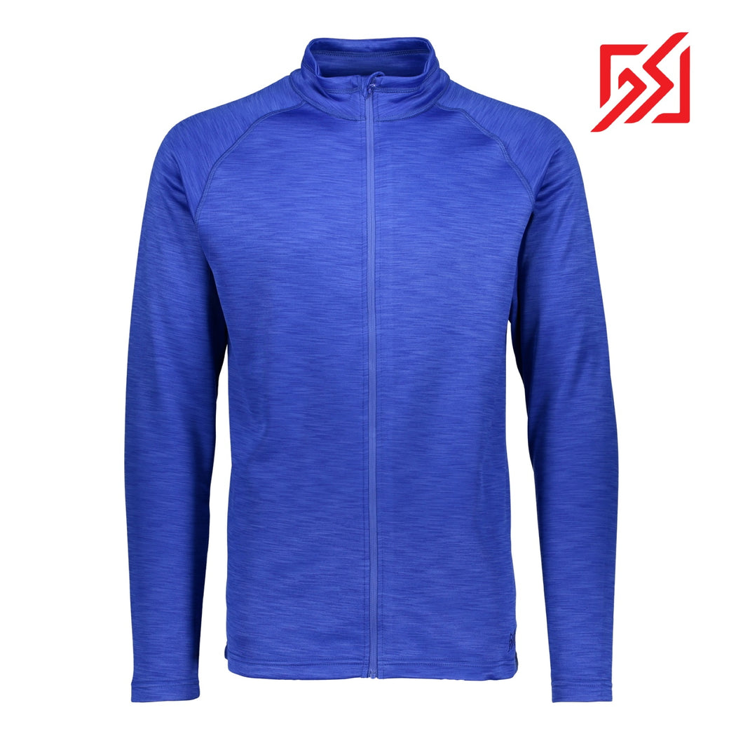 862454 CMD Mens Egil Super Blue Full-Zip Mid Layer Jacket Product Image Front