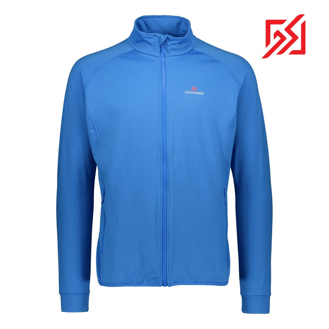 881058 CMD Mens Burwick Electric Blue Full-Zip Stretch Mid Layer Jacket Product Image Front