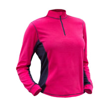 882035 CMD Sania Womens Bright Rose Fleece Pullover Product Image Side