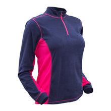 882035 CMD Sania Womens Navy Fleece Pullover Product Image Side
