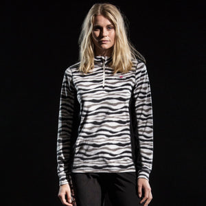 882035 CMD Sania Womens Zebra Print Fleece Pullover Model Image