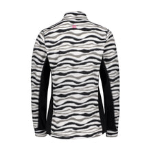882035 CMD Sania Womens Zebra Print Fleece Pullover Product Image Back