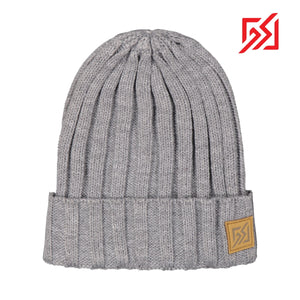 882309 CMD Unisex Mens Womens Grey Ribbed Winter Beanie Hat Product Image Front