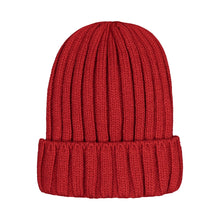 882309 CMD Unisex Mens Womens Red Ribbed Winter Beanie Hat Product Image Back