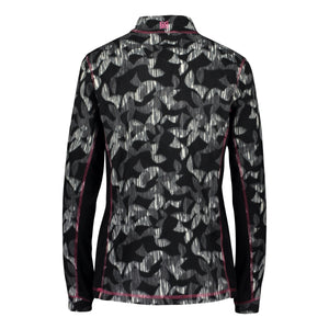 892036 CMD Shirley Womens Black Geometric Print Fleece Pullover Product Image Back