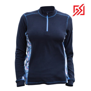 892036 CMD Shirley Womens Dark Blue Fleece Pullover Product Image Front