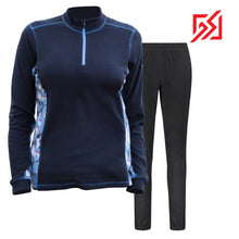 892036 CMD Shirley Womens Dark Blue Fleece Pullover Set Product Image Front