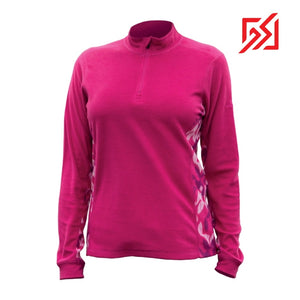 892036 CMD Shirley Womens Pink Fleece Pullover Product Image Front