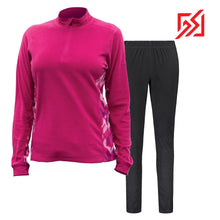 892036 CMD Shirley Womens Pink Fleece Pullover Set Product Image Front