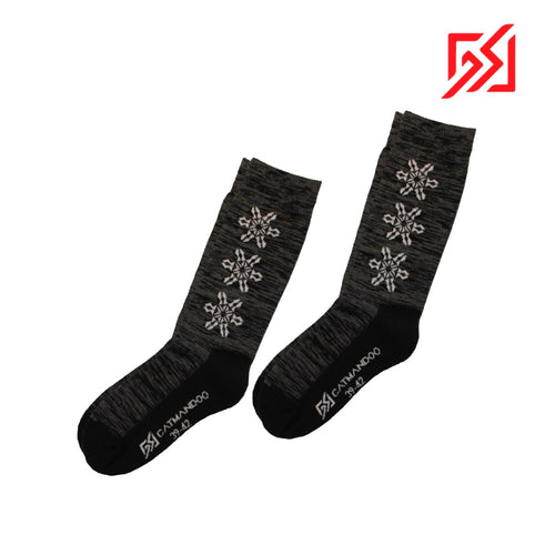 892413 CMD Women's Black Warm Winter Socks Product Image Front
