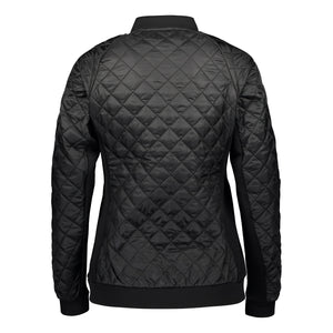 Catmandoo Women's Brill Black Quilted Bomber Jacket Product Image Back