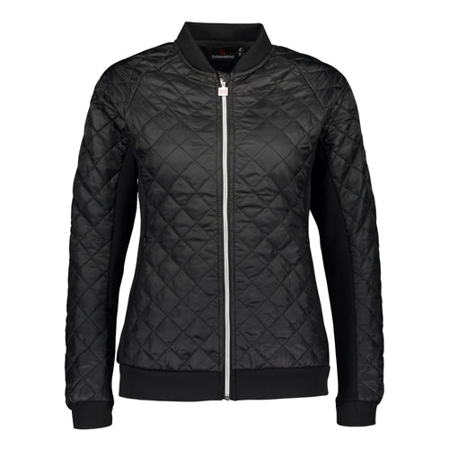 Catmandoo Women's Brill Black Quilted Bomber Jacket Product Image Front