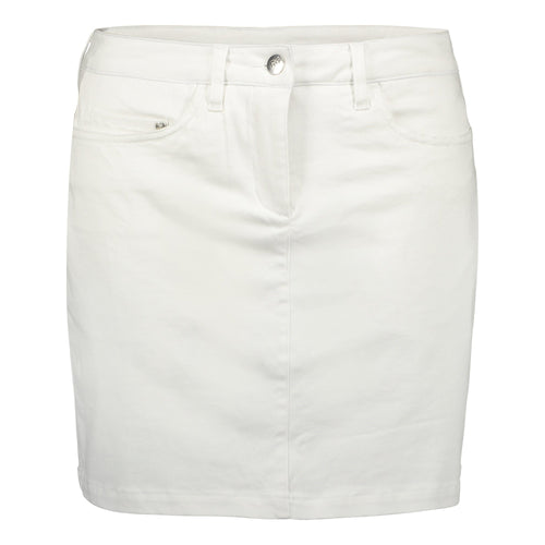 Catmandoo Women's Gutsy White Cotton Skort Product Image Front