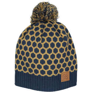 Catmandoo Frosty Pigeon Blue Unisex Winter Pom Pom Bobble Hat Product 872902