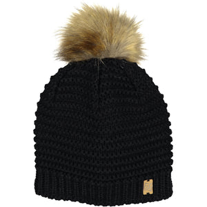 Catmandoo Kurje White Ladies Faux-Fur Winter Pom Pom Bobble Hat Product 872903_060