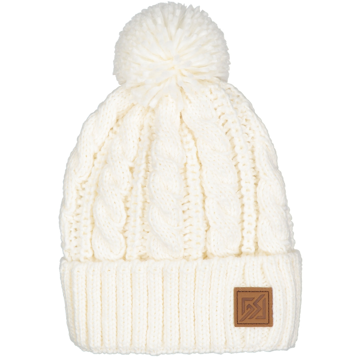 19401148eac82 Catmandoo Minkus Winter Knit Bobble Hat in White - The Golf Outfit
