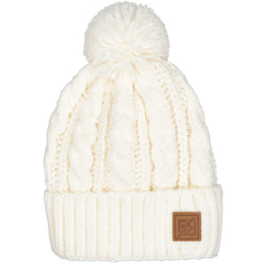 Catmandoo Minkus Women s White Winter Bobble Hat Product 872900 002 66adf7abdbe