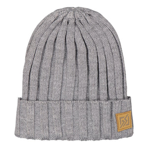 Catmandoo Otra Unisex Fisherman Ribbed Beanie Hat in Light Grey Melange Product Image 882309_0068