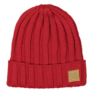 Catmandoo Otra Unisex Fisherman Ribbed Beanie Hat in Scooter Red Product Image 882309_4136