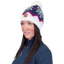 Catmandoo Senni Women's Blue Fleece Lined Winter Pom Pom Hat Model Image 872909_6141