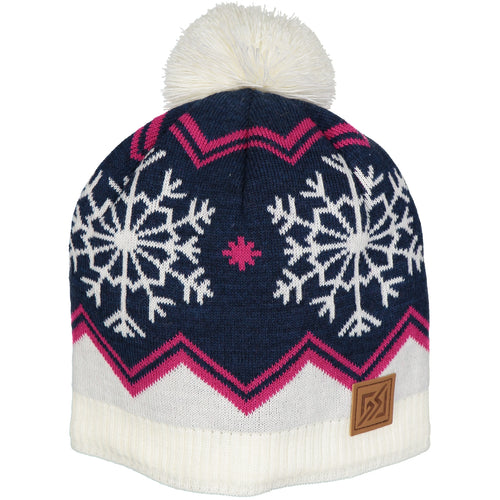 Catmandoo Senni Women's Blue Fleece Lined Winter Pom Pom Hat Product Image 872909_6141