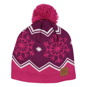 Catmandoo Senni Women's Red Fleece Lined Pom Pom Bobble Hat Product Image 872909_4027