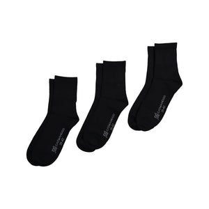 Catmandoo Unisex Crew Black Socks 3-Pack Multiple 811903
