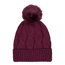 Catmandoo Agnes Cable-Knit Bobble Hat in Purple Product Image 892043_5059