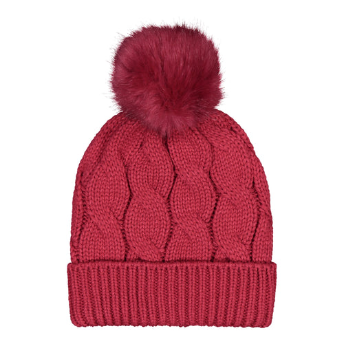 Catmandoo Agnes Cable-Knit Bobble Hat in Pink Product Image 892043_5082