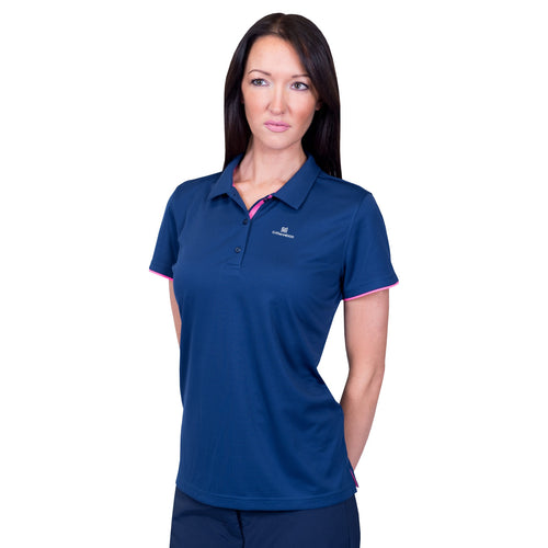 Catmandoo Women's Angela Navy Polo Shirt Model Image Front 871032