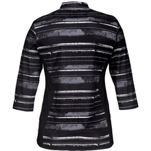 Catmandoo Women's Ayr 3/4 Sleeve Polo Shirt Black Print Product Image Back 881045