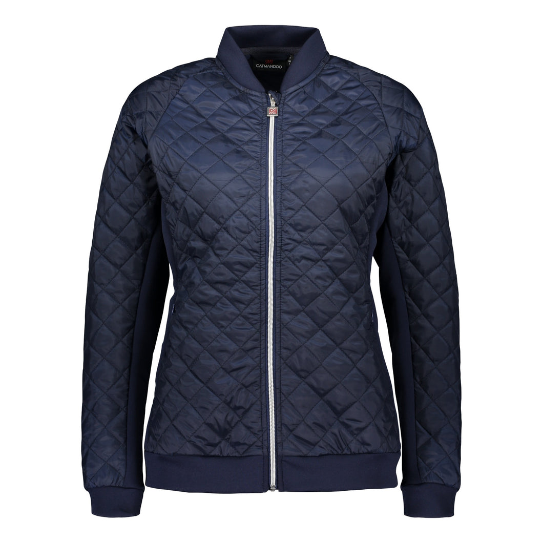 Catmandoo Women's Brill Navy Quilted Hybrid Jacket Product Image Front 891006